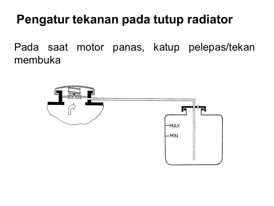 Pengatur tekanan pada tutup radiator