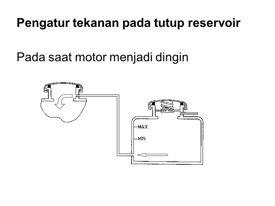 Pengatur tekanan pada tutup reservoir