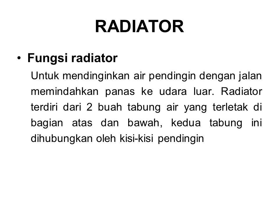 RADIATOR Fungsi radiator