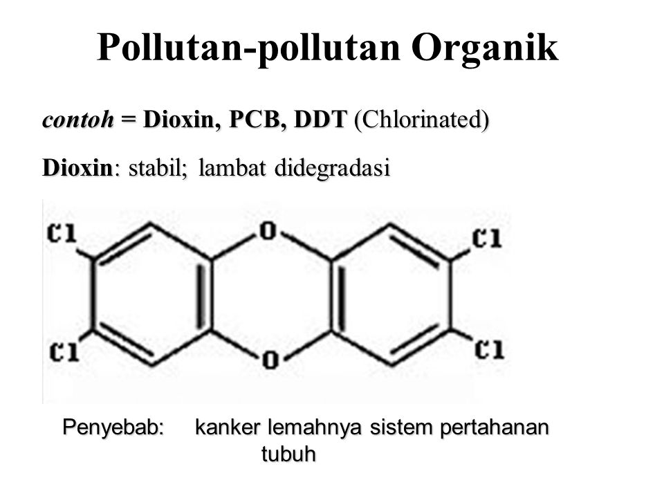 Pollutan-pollutan Organik