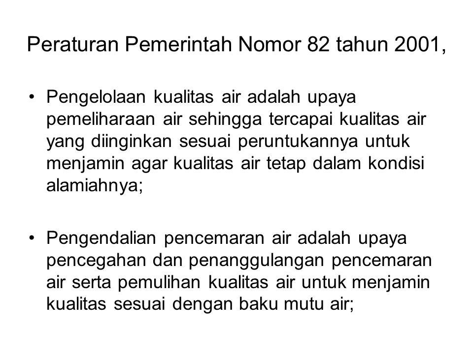 Peraturan Pemerintah Nomor 82 tahun 2001,