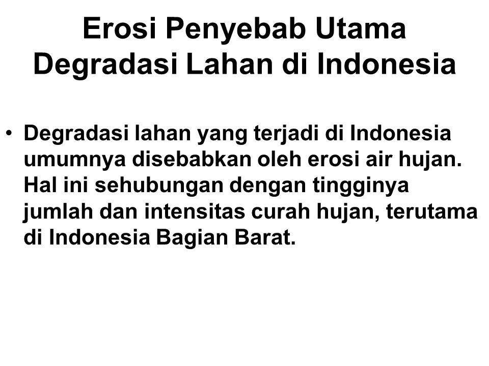 Erosi Penyebab Utama Degradasi Lahan di Indonesia