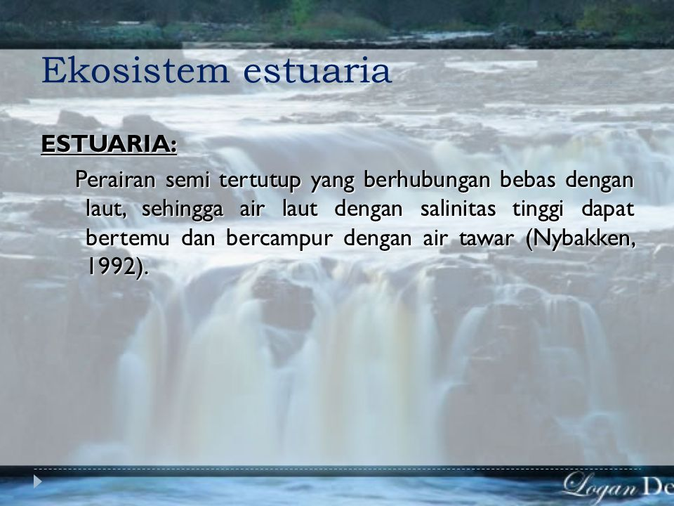 Ekosistem estuaria ESTUARIA: