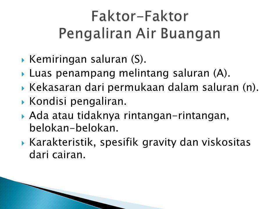Faktor-Faktor Pengaliran Air Buangan