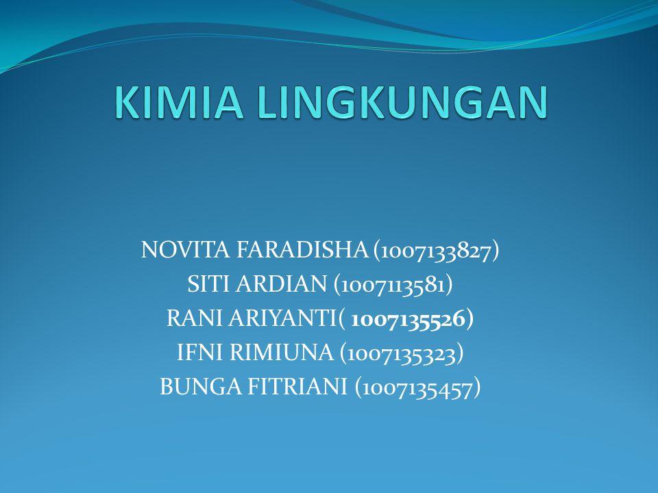 KIMIA LINGKUNGAN NOVITA FARADISHA (1007133827)