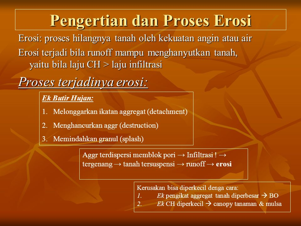 Pengertian dan Proses Erosi