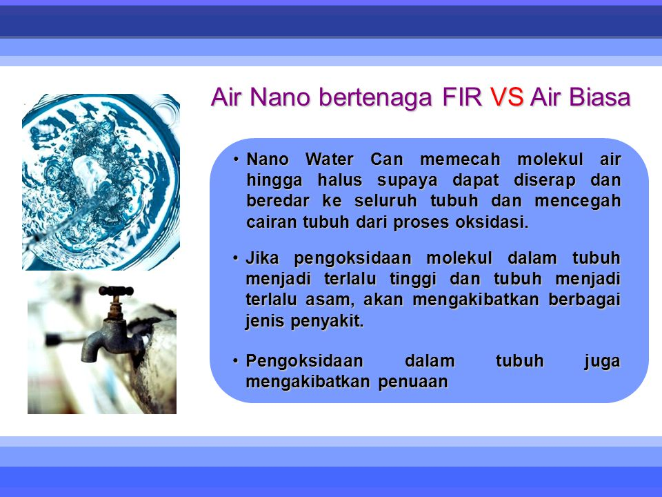 Air Nano bertenaga FIR VS Air Biasa