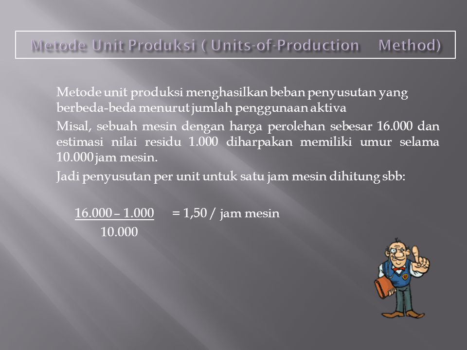 Metode Unit Produksi ( Units-of-Production Method)