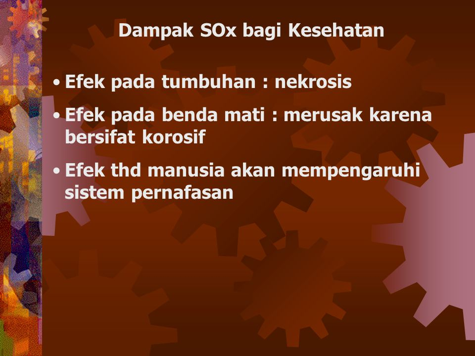 Dampak SOx bagi Kesehatan