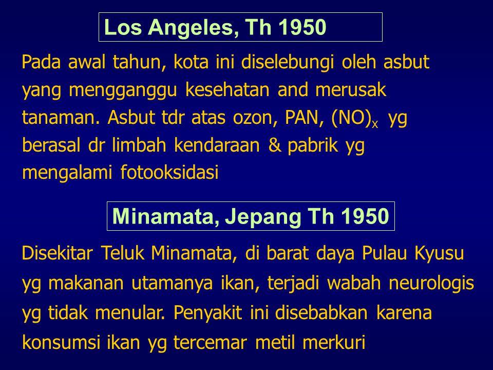 Los Angeles, Th 1950 Minamata, Jepang Th 1950
