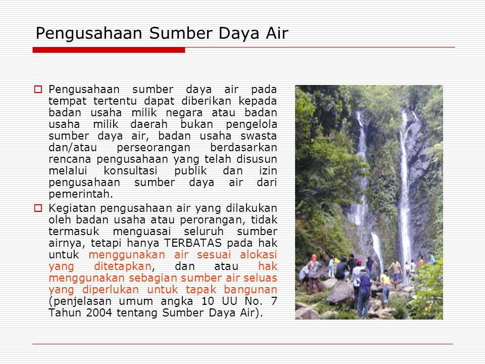 Pengusahaan Sumber Daya Air
