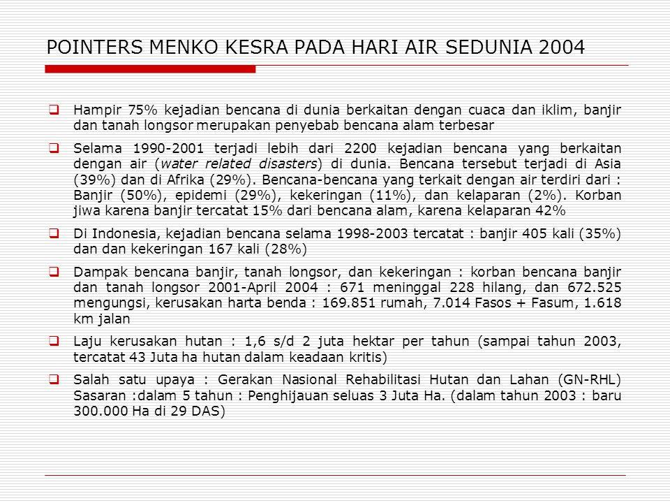 POINTERS MENKO KESRA PADA HARI AIR SEDUNIA 2004