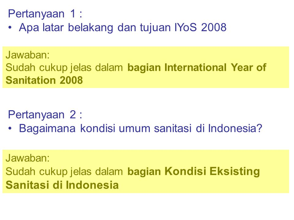 Apa saja kegiatan yang dicanangkan PU dalam IYoS 2008