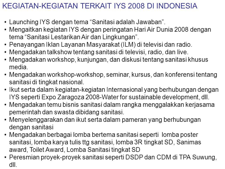 KONDISI EKSISTING SANITASI DI INDONESIA