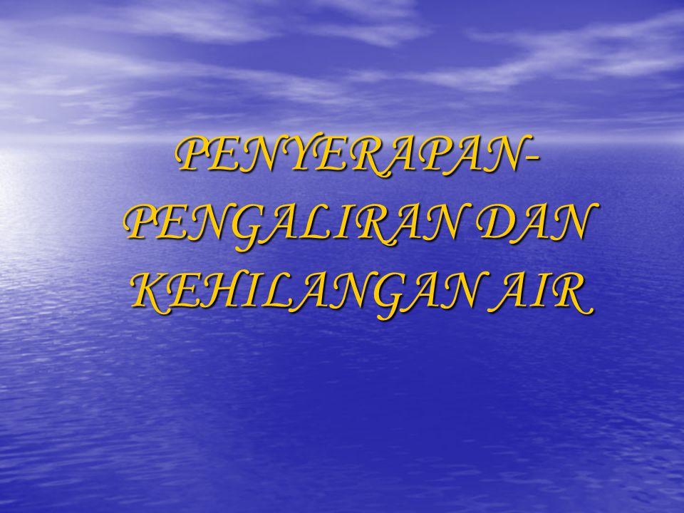 PENYERAPAN-PENGALIRAN DAN KEHILANGAN AIR