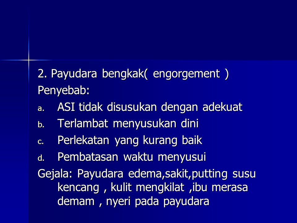 2. Payudara bengkak( engorgement )