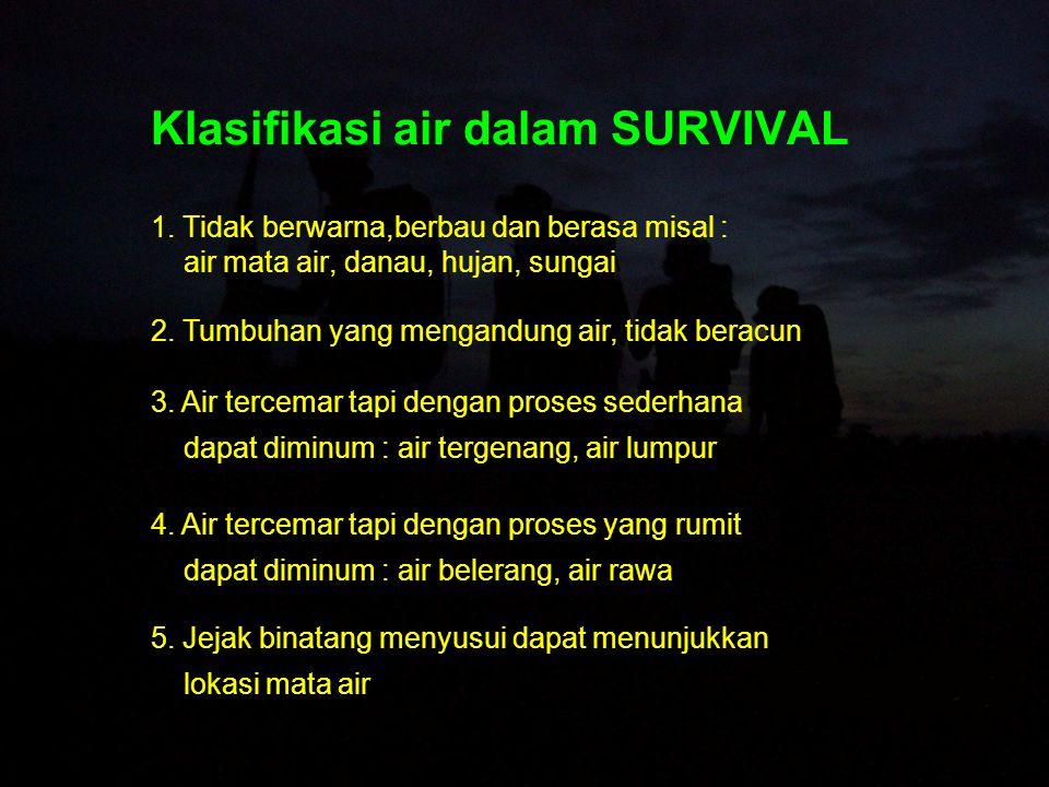 Klasifikasi air dalam SURVIVAL