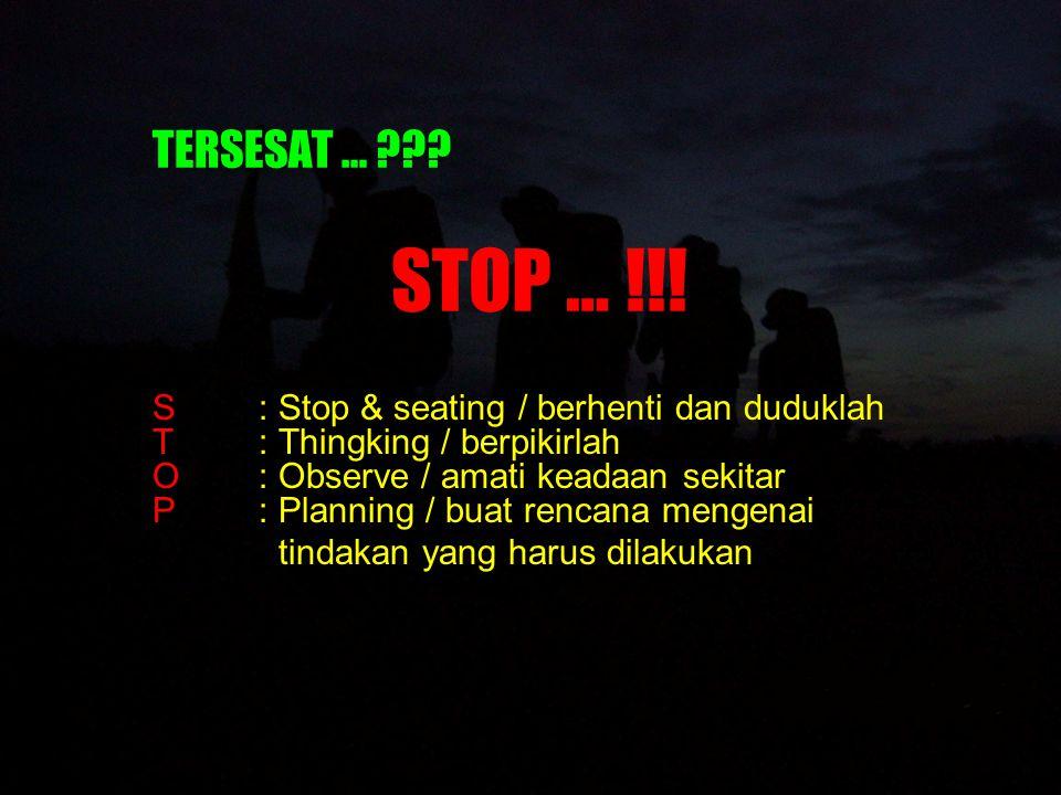 TERSESAT … STOP … !!!