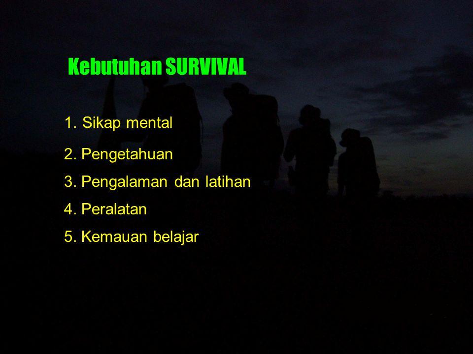 Kebutuhan SURVIVAL Sikap mental 2. Pengetahuan