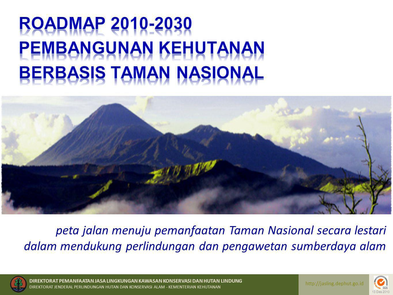 ROADMAP 2010-2030 PEMBANGUNAN KEHUTANAN BERBASIS TAMAN NASIONAL