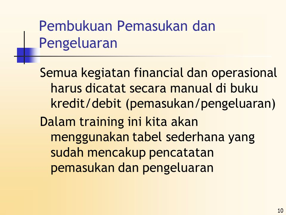 Kredit dan Debit