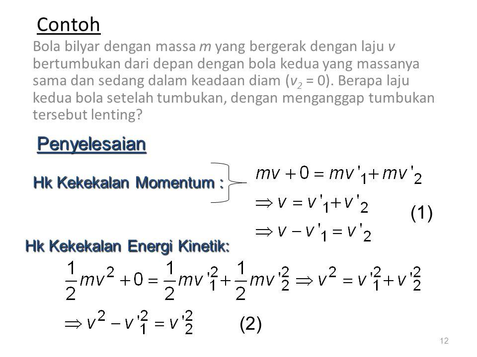 Contoh Penyelesaian (1) (2)
