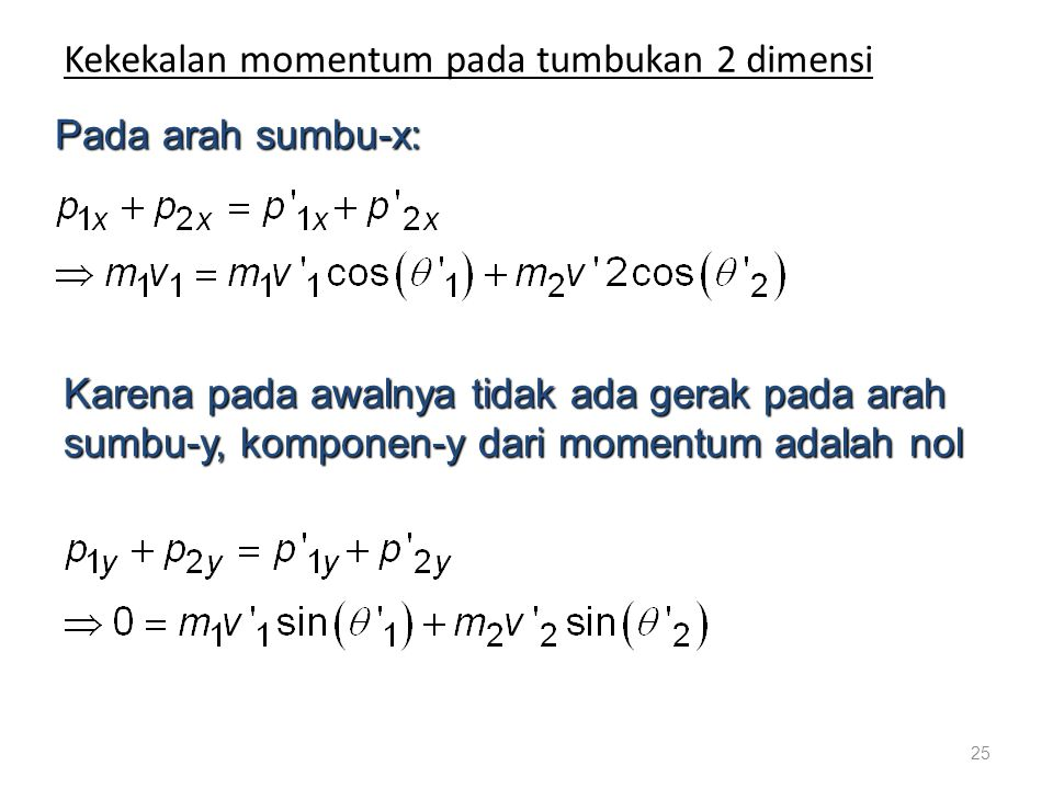 Kekekalan momentum pada tumbukan 2 dimensi