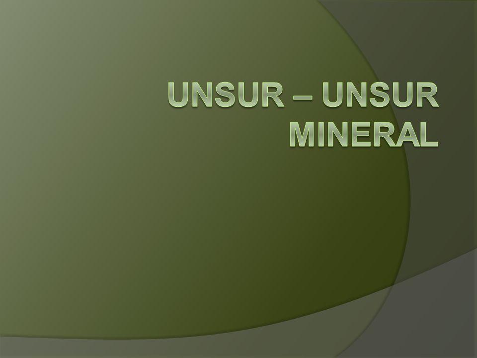 Unsur – unsur Mineral
