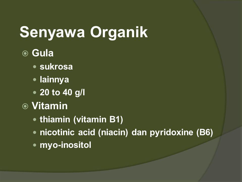 Senyawa Organik Gula Vitamin sukrosa lainnya 20 to 40 g/l