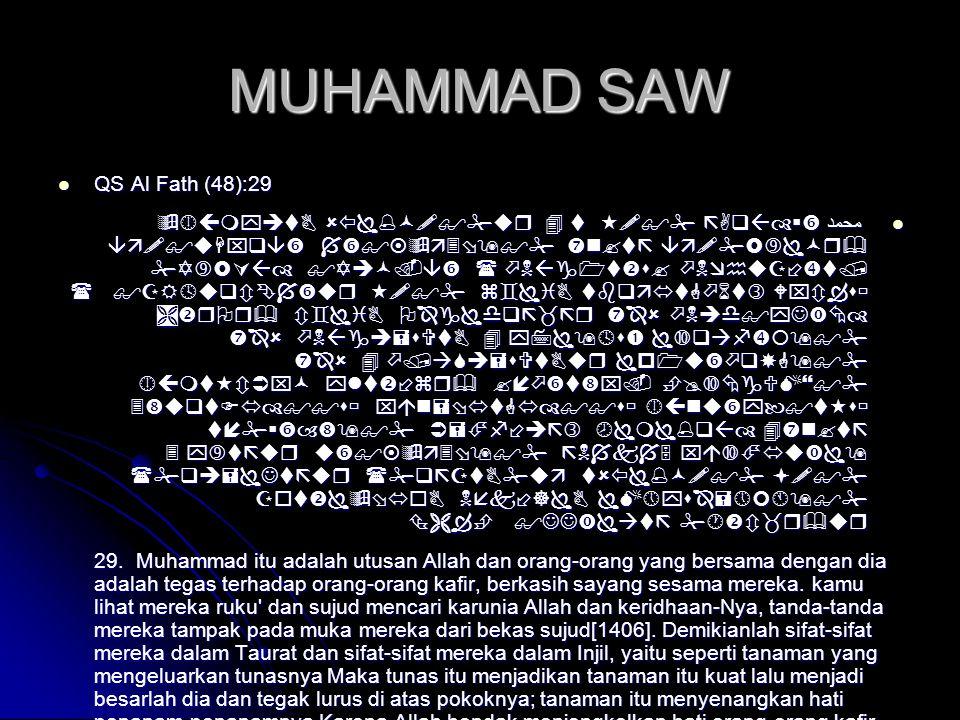 MUHAMMAD SAW QS Al Fath (48):29