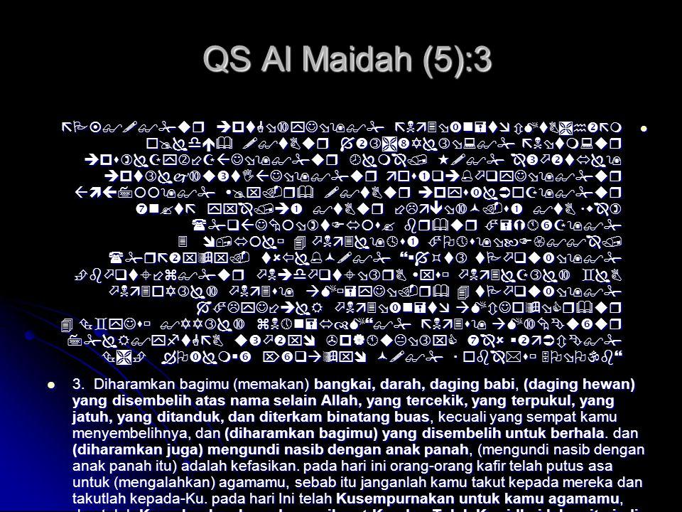 QS Al Maidah (5):3