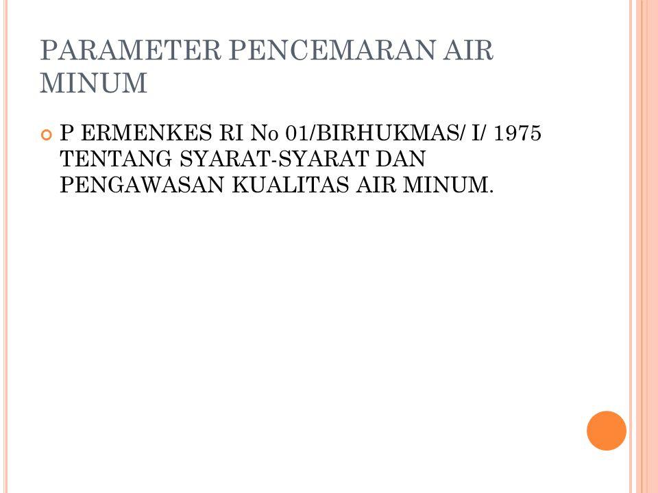 PARAMETER PENCEMARAN AIR MINUM