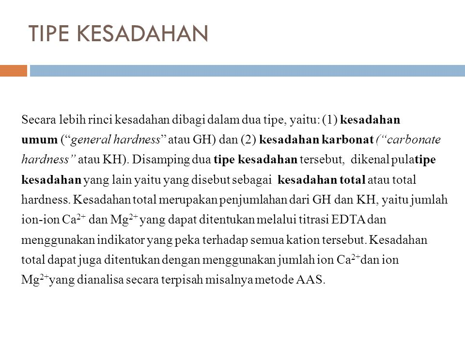 TIPE KESADAHAN