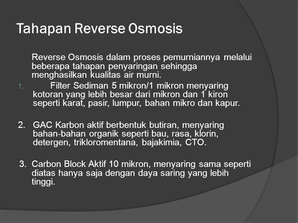 Tahapan Reverse Osmosis