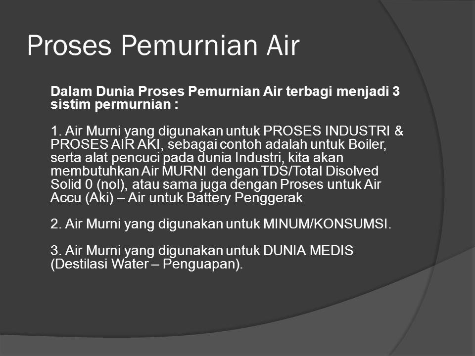 Proses Pemurnian Air