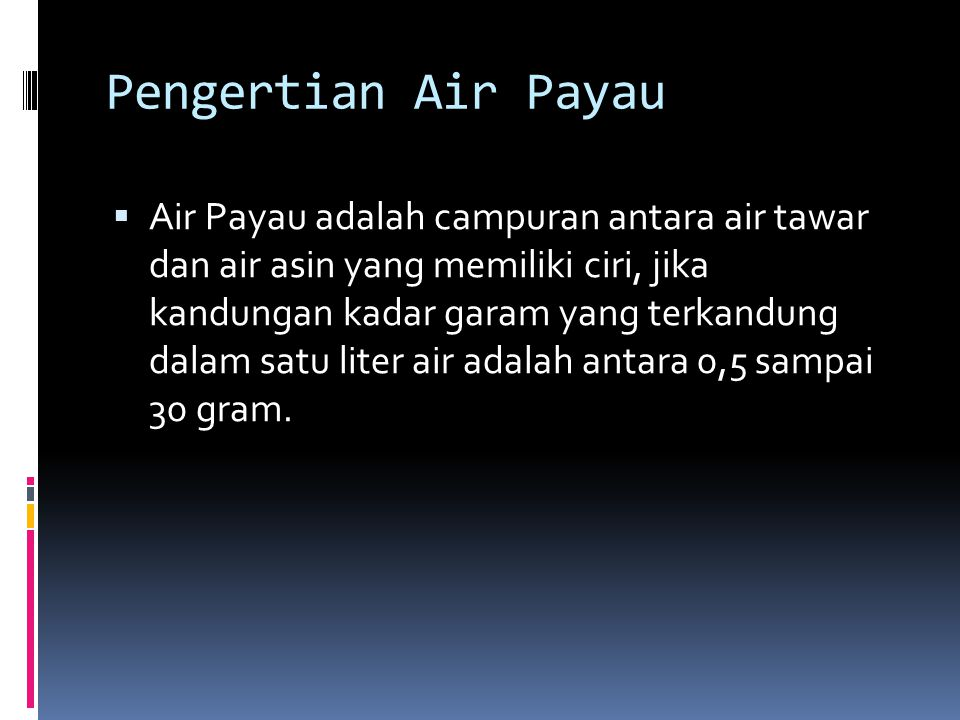 Pengertian Air Payau