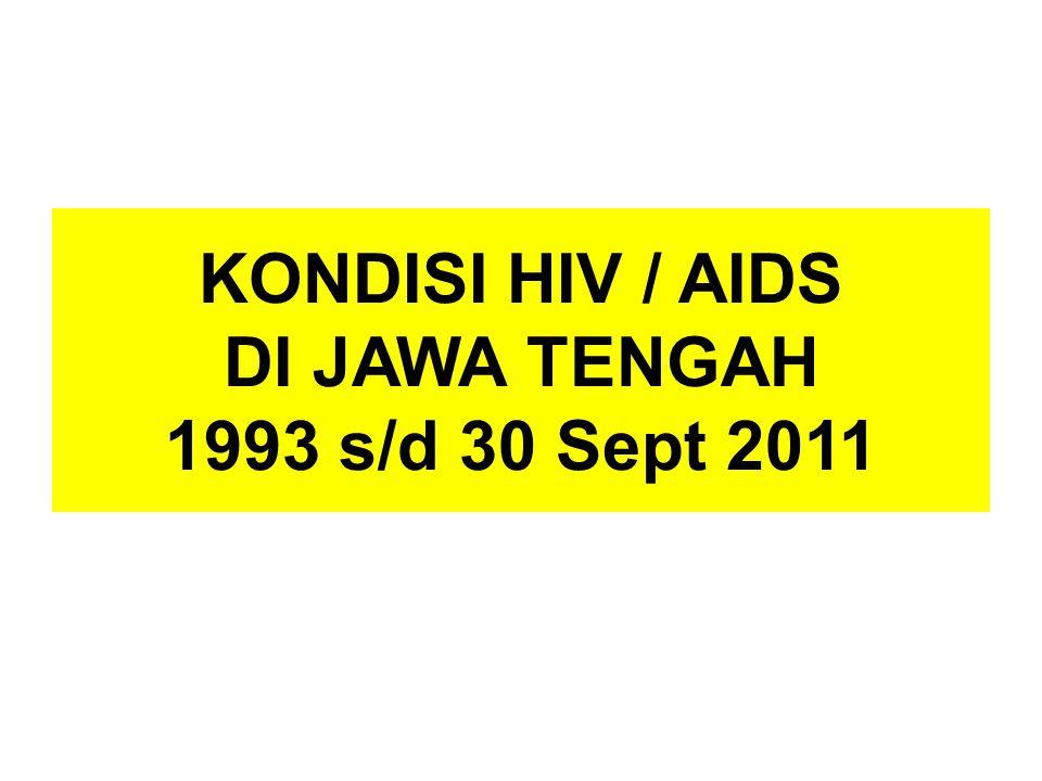 KONDISI HIV / AIDS DI JAWA TENGAH 1993 s/d 30 Sept 2011