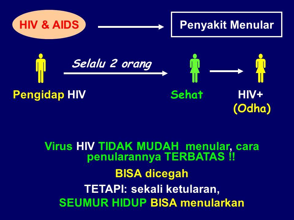    HIV & AIDS Penyakit Menular Selalu 2 orang