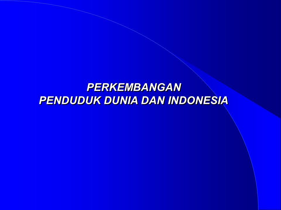 PENDUDUK DUNIA DAN INDONESIA