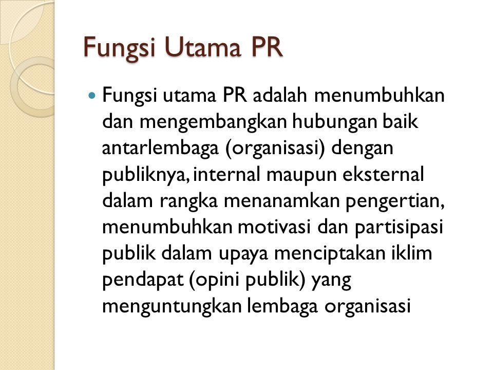 Fungsi Utama PR