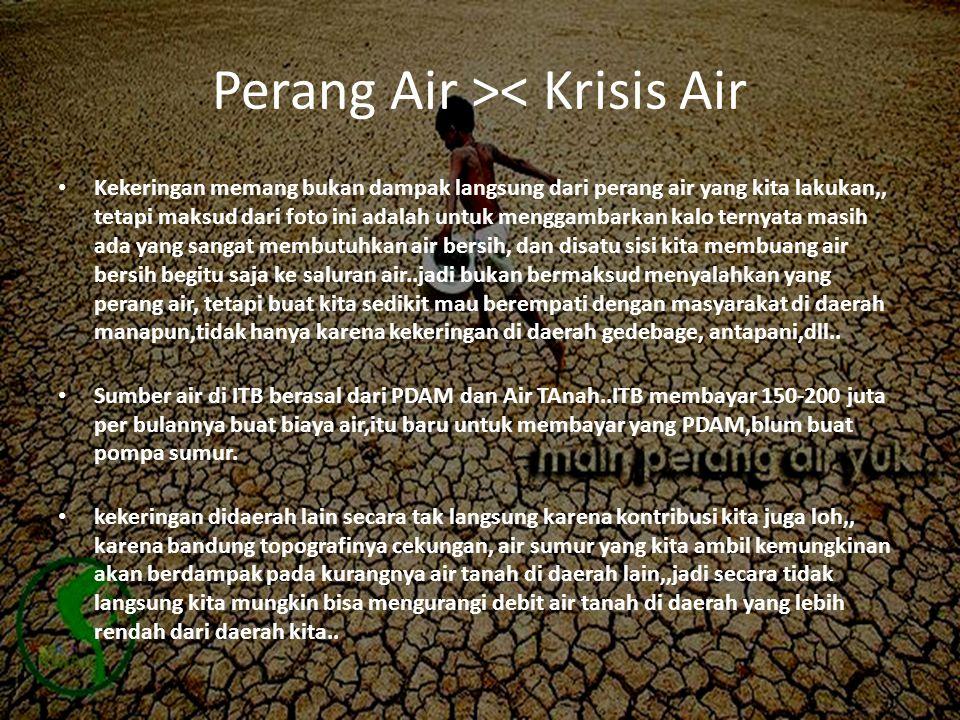 Perang Air >< Krisis Air