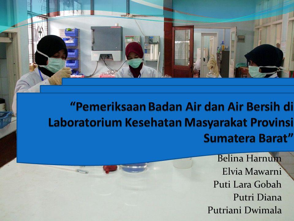 Pemeriksaan Badan Air dan Air Bersih di Laboratorium Kesehatan Masyarakat Provinsi Sumatera Barat