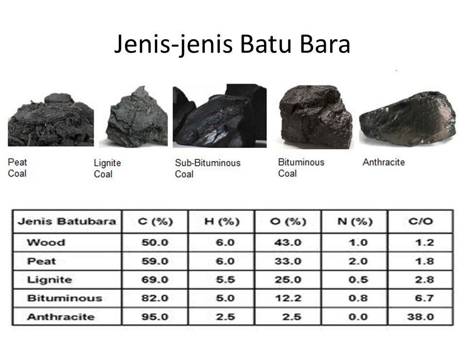 Jenis-jenis Batu Bara