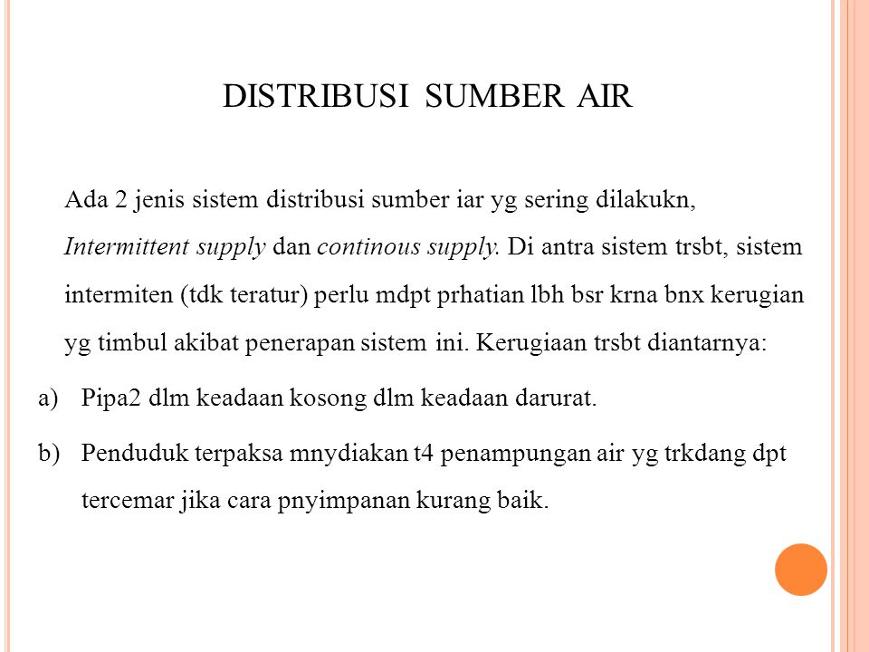 distribusi sumber air