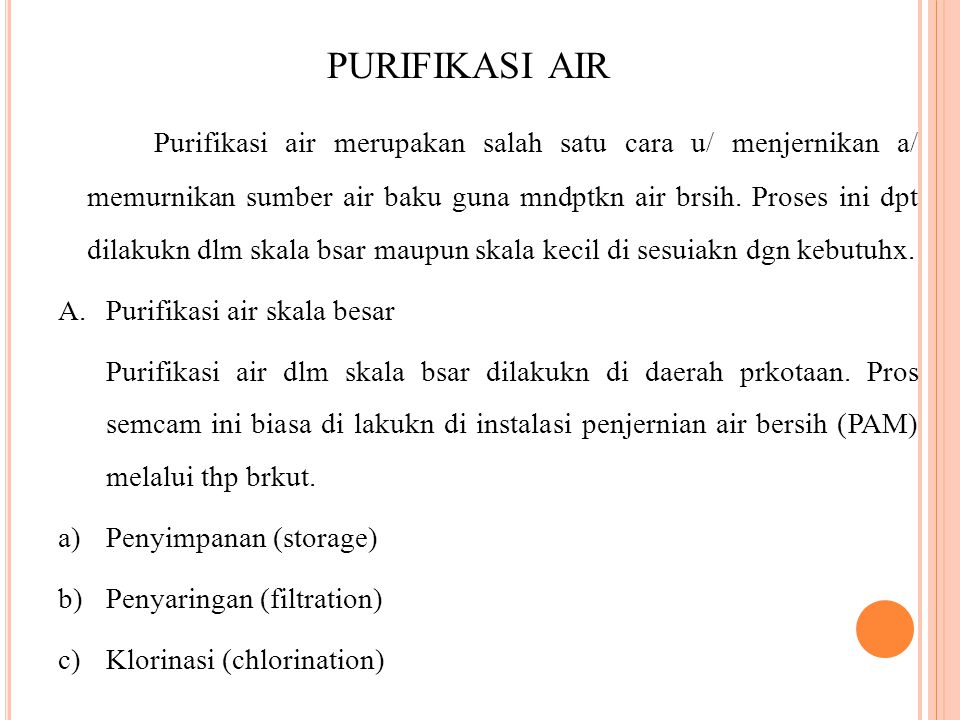 purifikasi air