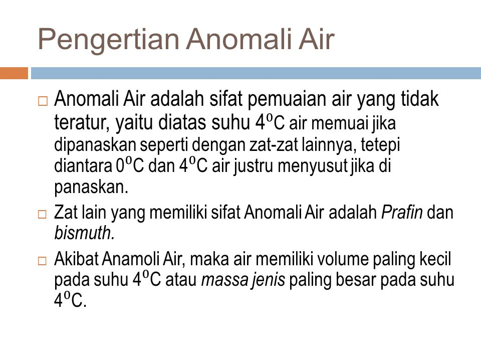 Pengertian Anomali Air