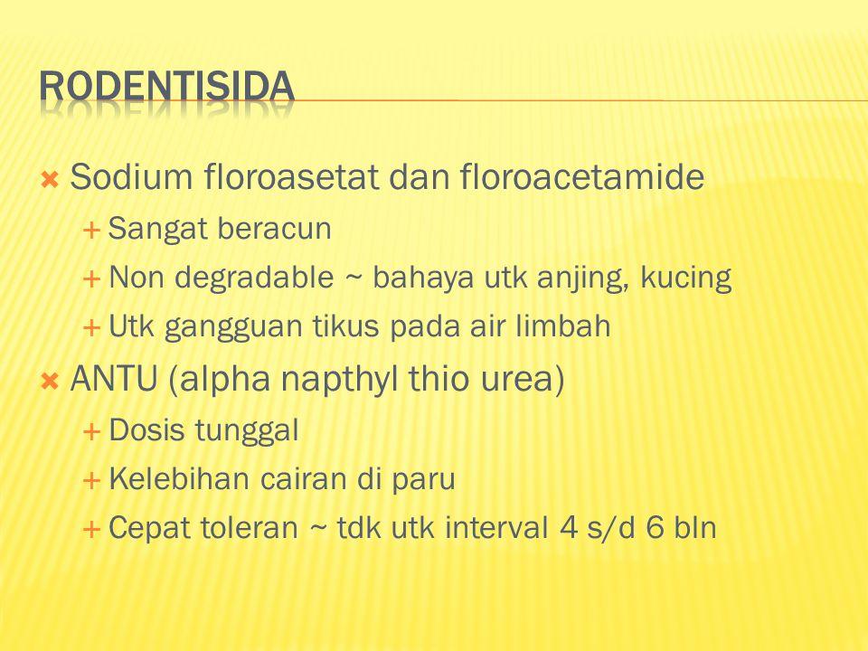 rodentisida Sodium floroasetat dan floroacetamide