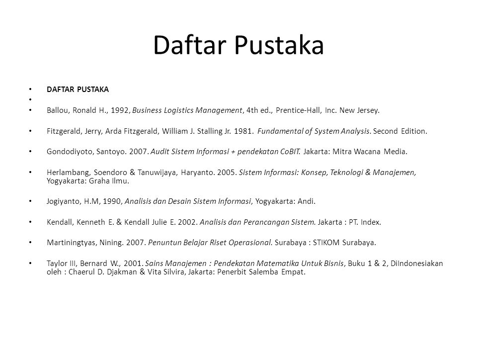 Daftar Pustaka DAFTAR PUSTAKA