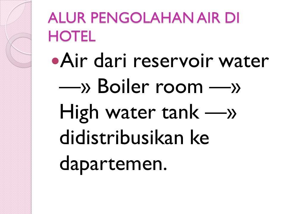 ALUR PENGOLAHAN AIR DI HOTEL