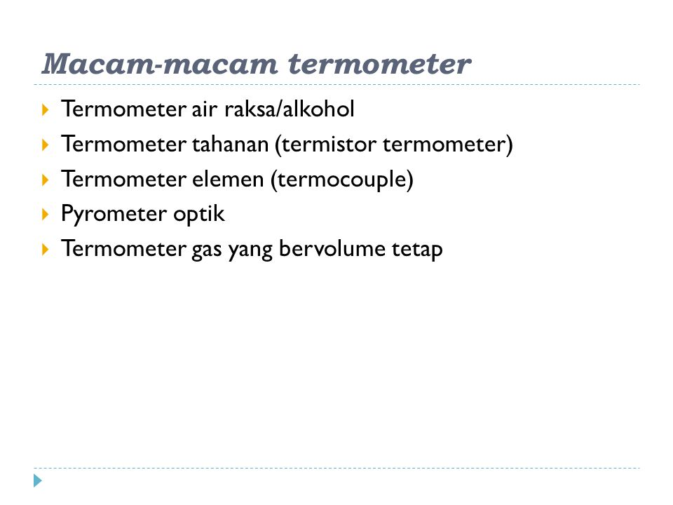 Macam-macam termometer